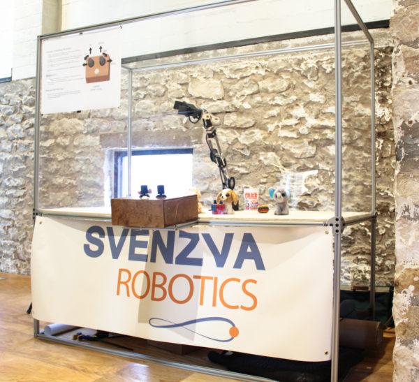 The Svenzva Robotics mobile robot exhibit